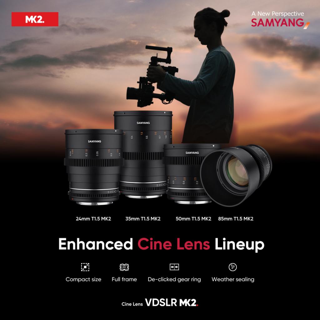 Samyang VDSLR MK2: 4 νέοι κινηματογραφικοί φακοί για 7 DSLR και mirrorless mounts!