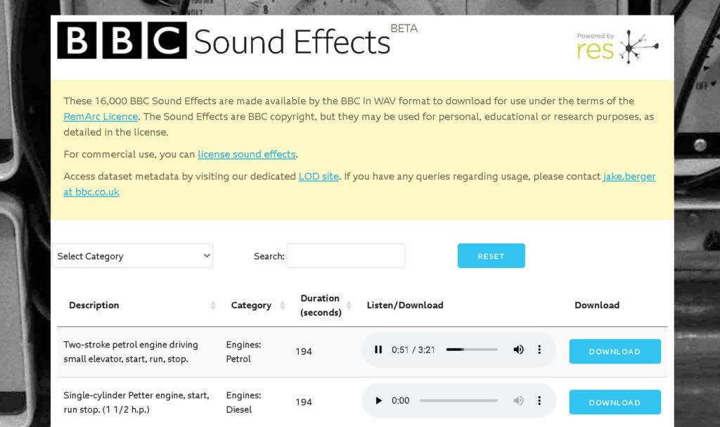 BBC Sound Effects Library: Προσφέρει Δωρεάν 16.000 ηχητικά εφέ!