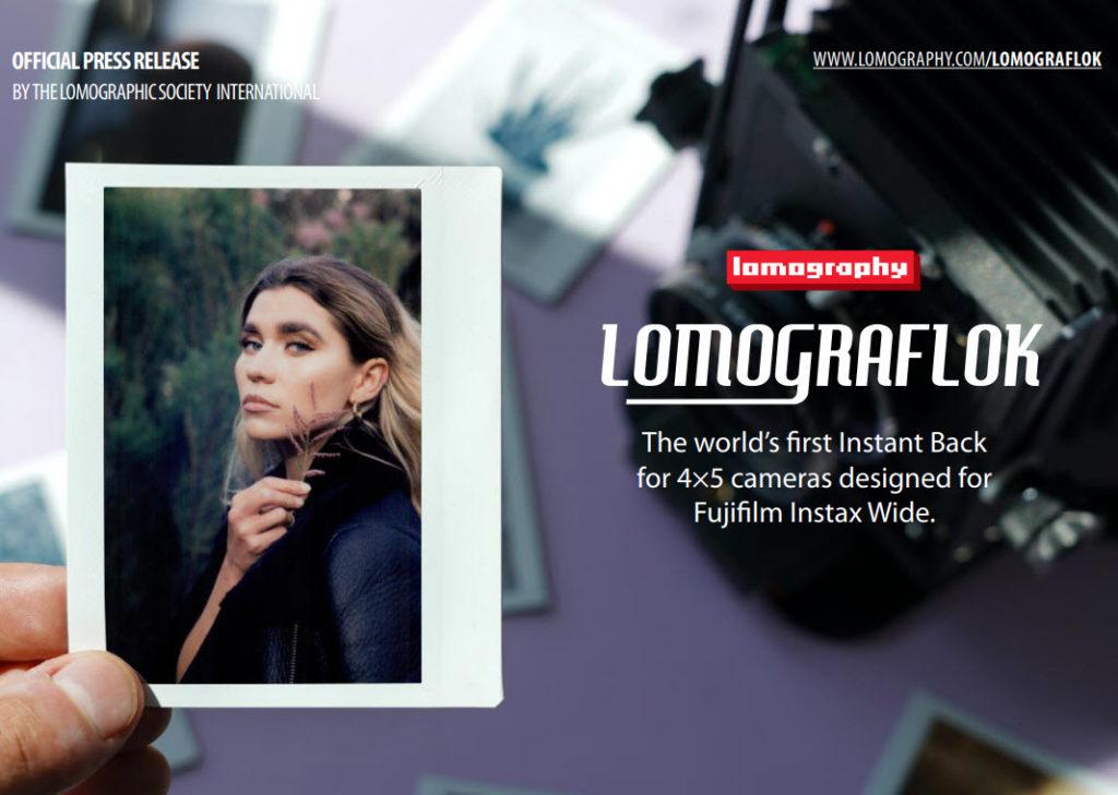 LomoGraflok 4×5 Instant Back: Η πρώτη πλάτη με Fujifilm Instax Wide φιλμ για κάμερες μεγάλου φορμά 4 x 5!