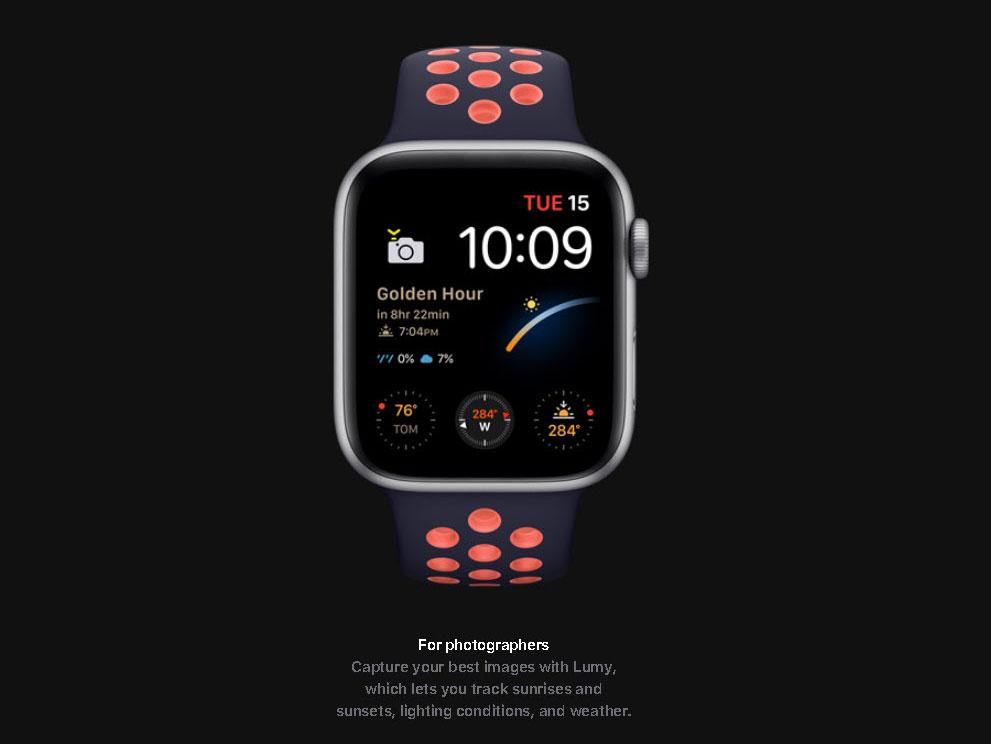 Το νέο Apple Watch Series 6 έχει ειδικό Face για φωτογράφους ώστε να λέει πότε είναι η Golden Hour!