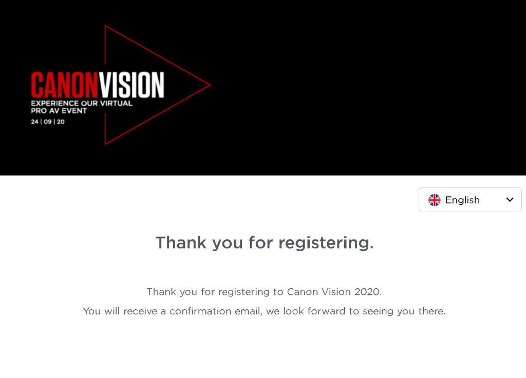 Ανακοινώθηκε το Canon Vision 2020 κατά το οποίο  παρουσιάζεται η νέα κινηματογραφική κάμερα της Canon (Canon EOS C70;)