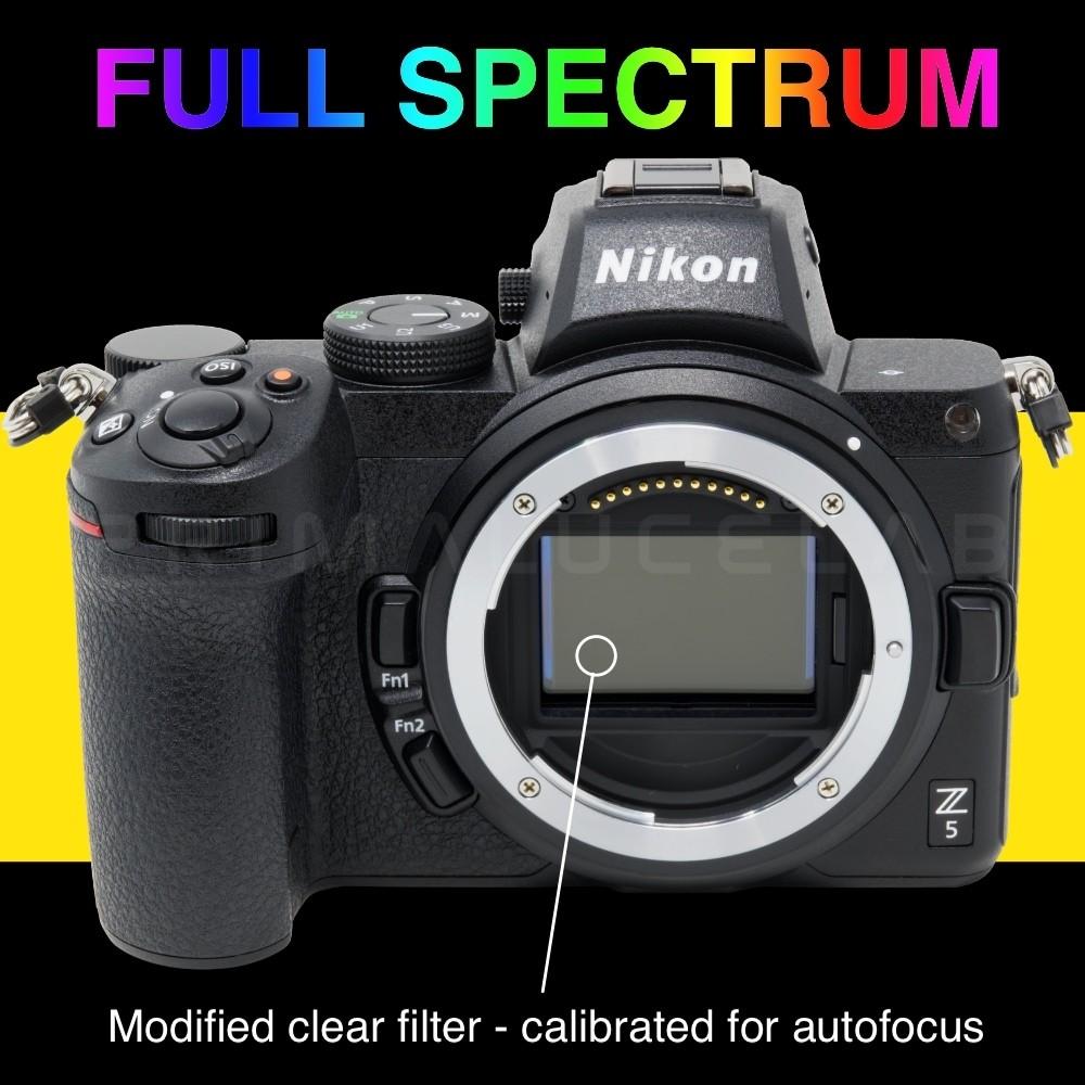 Nikon Z 5 Full Spectrum για αστροφωτογράφιση, υπέρυθρη και υπεριώδη φωτογραφία