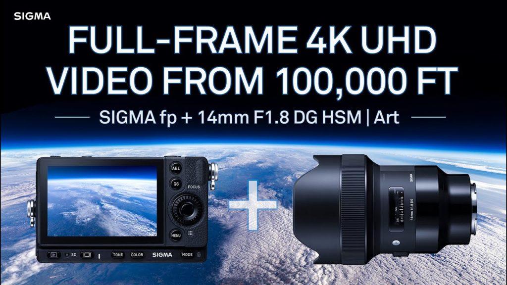 Η SIGMA έστειλε δύο SIGMA fp στην στρατόσφαιρα και κατέγραψε 4K UHD 12-bit RAW βίντεο και φωτογραφίες 24.6mp στα 100.000 πόδια!