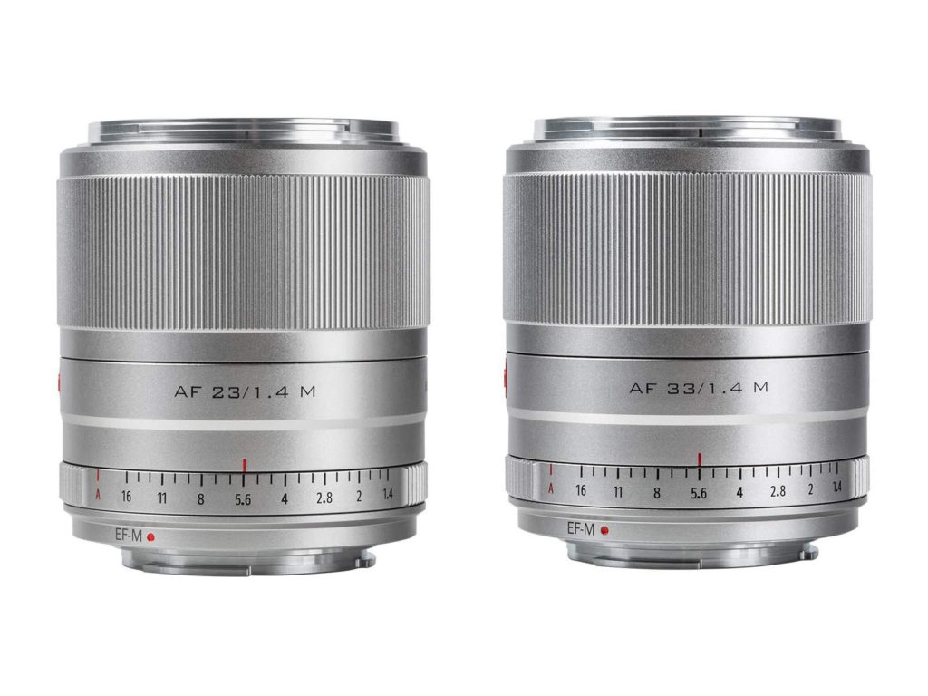 Viltrox: Δύο νέοι AF φακοί  23mm F/1.4 και 33mm F/1.4 για Canon EOS M κάμερες