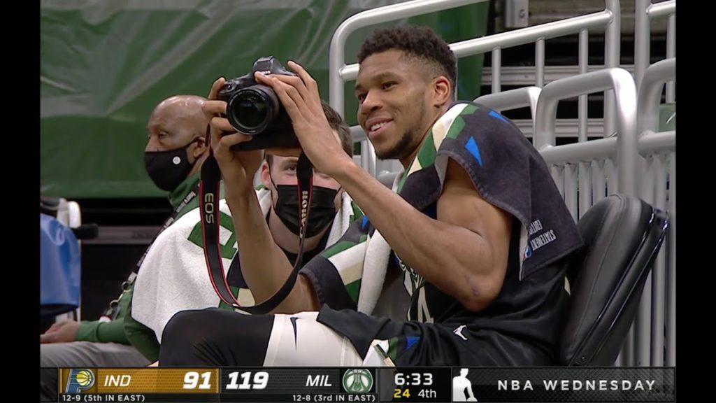 Γιάννης Αντετοκούμπο: Του αρέσει να φωτογραφίζει και φαίνεται ότι έχει επιλέξει την κορυφαία κάμερα για σπορ!