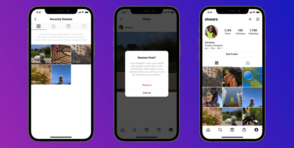 Instagram: Θα επιτρέπει να επαναφέρεις τα διαγραμμένα post σου!
