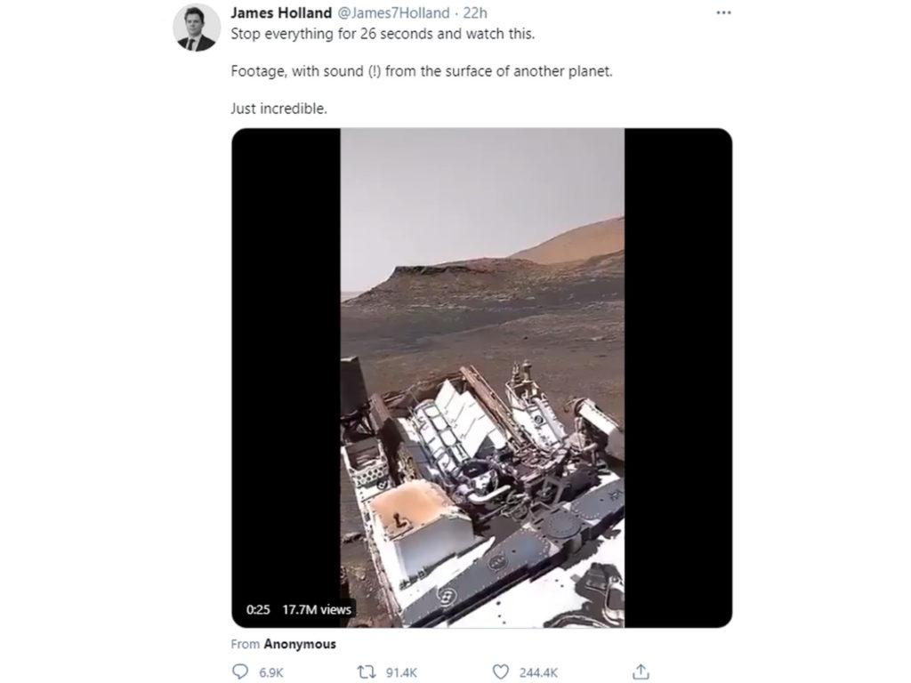 Το βίντεο με ήχο από τον πλανήτη Άρη είναι ψεύτικο!