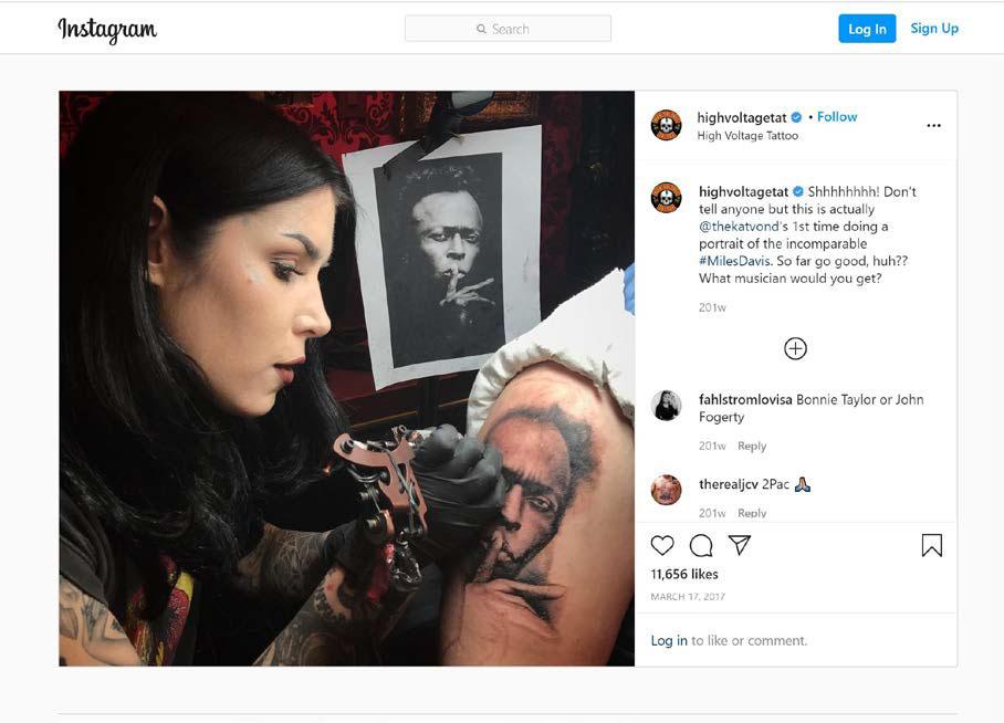 Φωτογράφος μήνυσε μία tattoo artist γιατί έκανε ένα πορτραίτο που είχε βγάλει, τατουάζ!