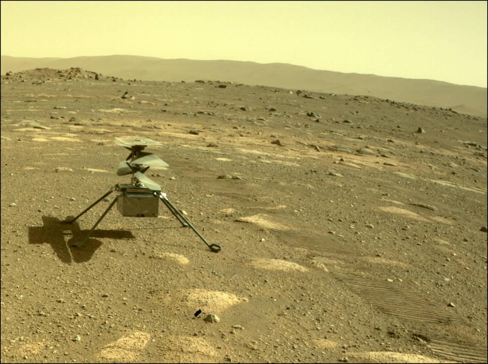 Ingenuity: Αυτή είναι η πρώτη φωτογραφία του ελικοπτέρου στον Άρη και η πρώτη του λήψη!
