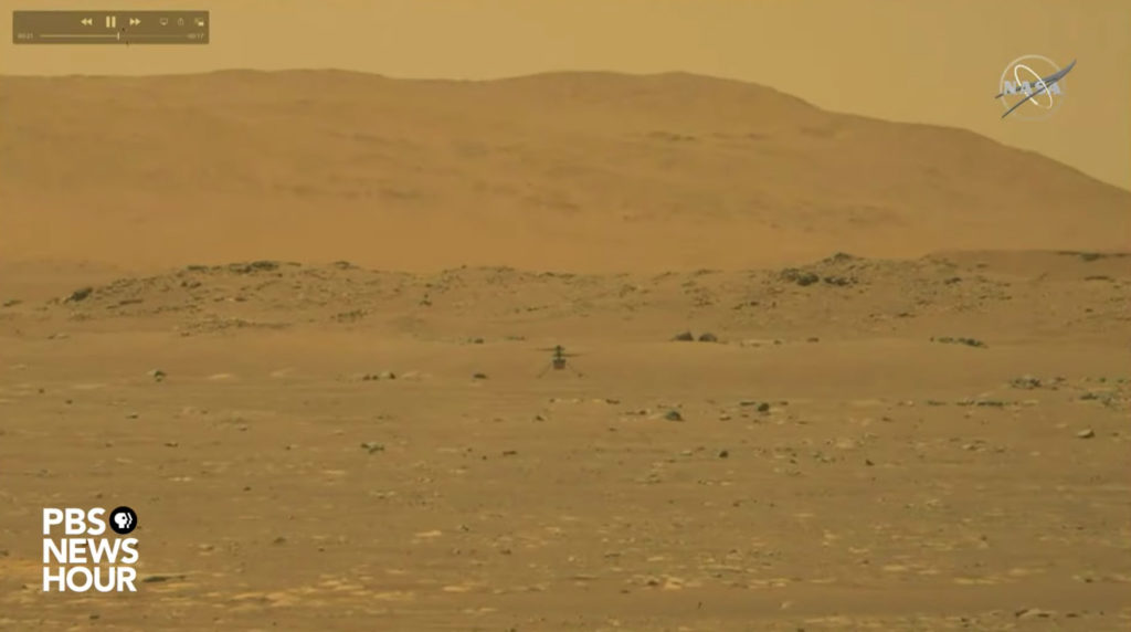 Ingenuity: Έγραψε ιστορία ως το πρώτο όχημα που έκανε πτήση σε άλλο πλανήτη, η ιστορική φωτογραφία στον αέρα του Άρη!