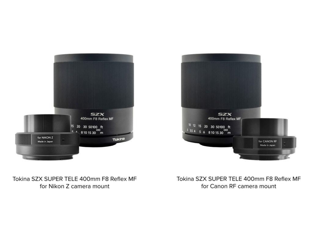 Ο φακός Tokina SZX SUPER TELE 400mm F8 Reflex MF διαθέσιμος και για Nikon Z και Canon RF