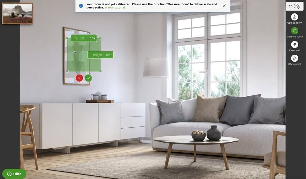 Νέα υπηρεσία σου επιτρέπει να δεις στον Η/Υ το δωμάτιο σου και το πως θα φαίνεται στον τοίχο μία εκτυπωμένη εικόνα!