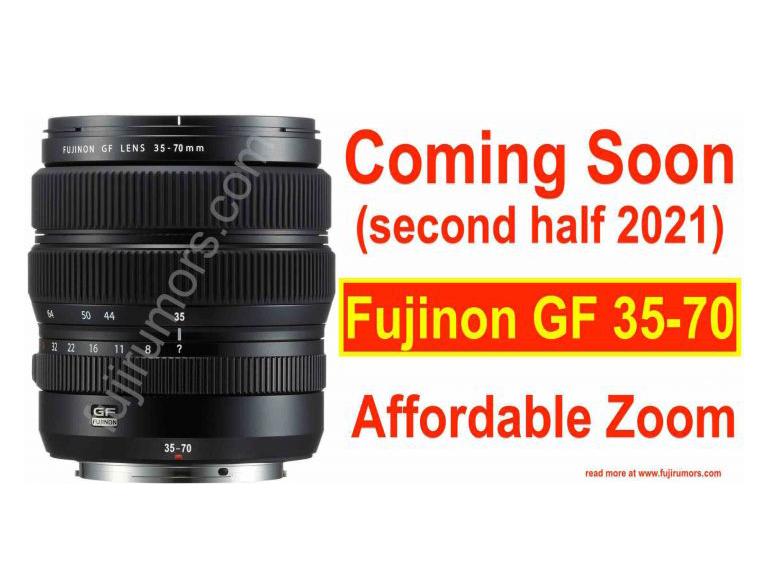 Έρχεται ο ζουμ φακός μεσαίου φορμά Fujifilm GF 35-70mm, με τιμή 500 δολάρια!
