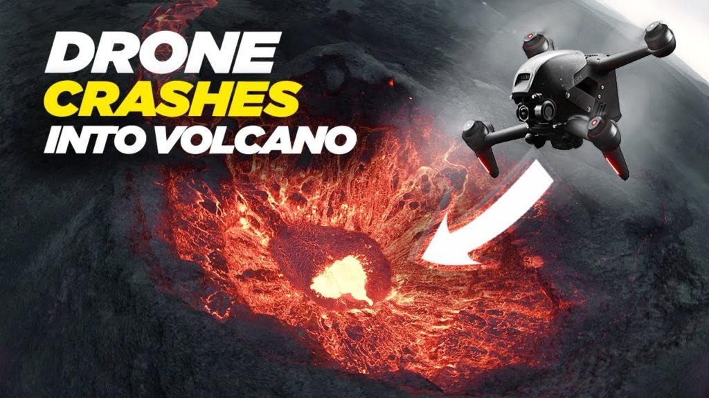Επικό βίντεο από FPV drone με πλάνα από ηφαίστειο, λίγο πριν το καταπιεί η λάβα!