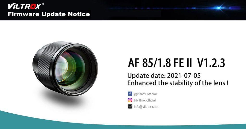 Αναβάθμιση Firmware για τον Viltrox AF 85/ 1.8 FE II