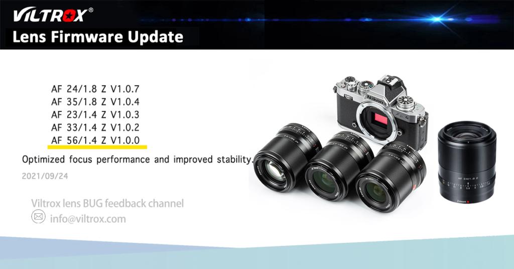 Αναβάθμιση Firmware για πέντε φακούς της Viltrox για Nikon Z κάμερες!