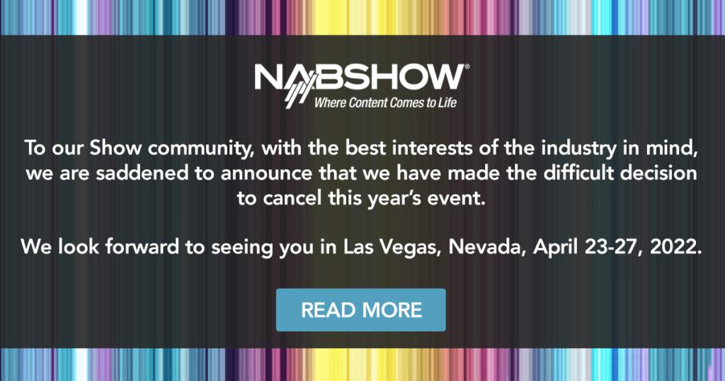 Ακυρώθηκε και το NAB Show του Λας Βέγκας!