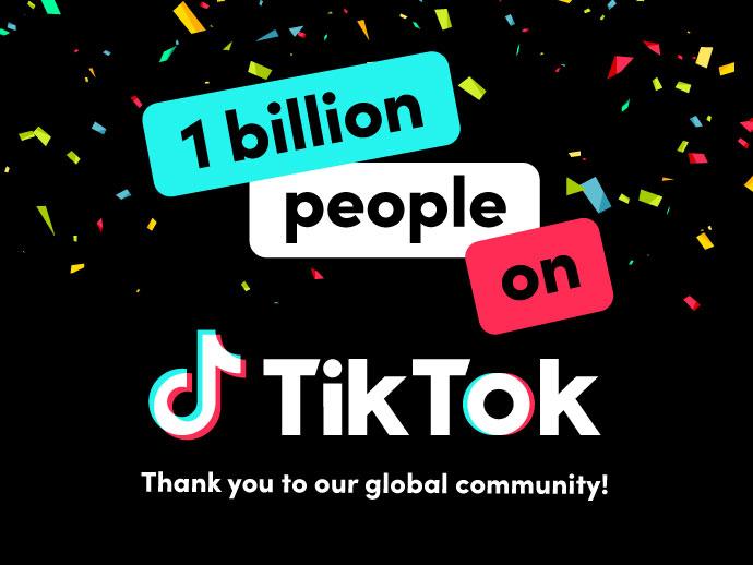 Το TikTok έφτασε τους 1 δισεκατομμύριο ενεργούς χρήστες τον μήνα!