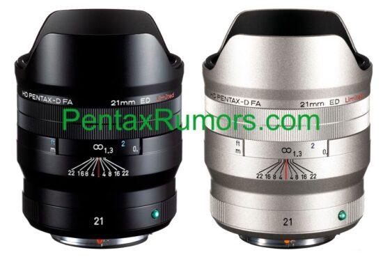 Έρχεται ο φακός HD Pentax-D FA 21mm f/2.4 ED με τιμή 1220 ευρώ!